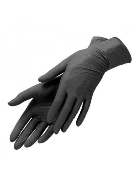 Перчатки нитриловые черные, размер S, 100 шт. Медиком