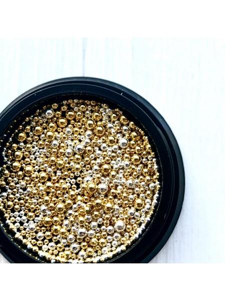 Бульонка металлическая разноразмерная Silver-Gold