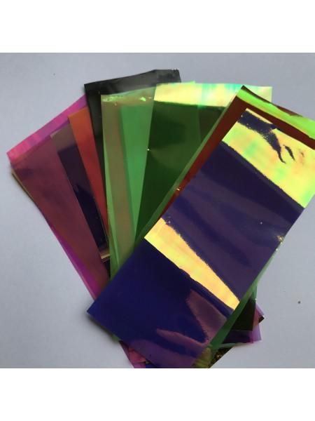"""Фольга """"Битое стекло"""" , набор 20 цветов 4*10 см."""