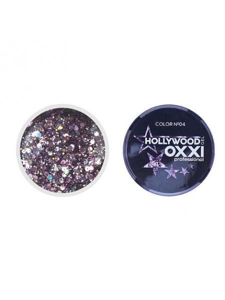 Глиттерный гель Hollywood Oxxi №04