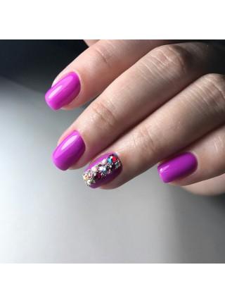 Гель лак Oxxi №017 розово-пурпурный, эмаль, 10 мл.