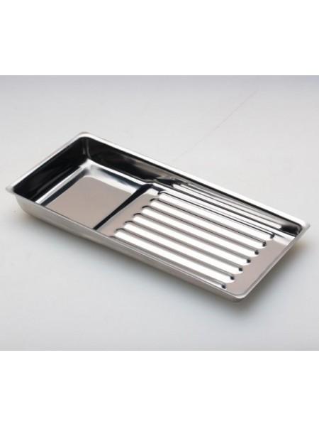 Лоток из нерж. стали для инструмента 195х90 мм.