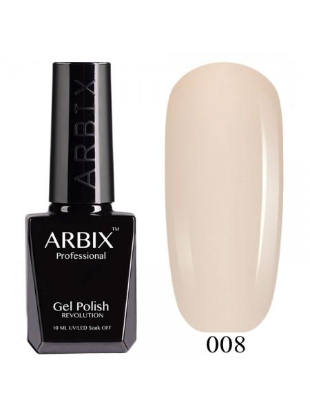 Гель лак Arbix №008, Слоновая кость