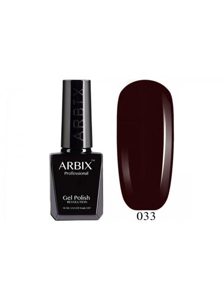 Гель лак Arbix №033, Тёмная помада