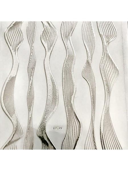 "Гибкая лента для дизайна ""нити"", серебро"