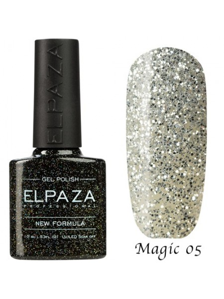 Гель лак Elpaza Magic Glitter №05, серебряный водопад