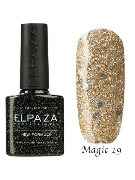 Гель лак Elpaza Magic Glitter №19, осенний листопад