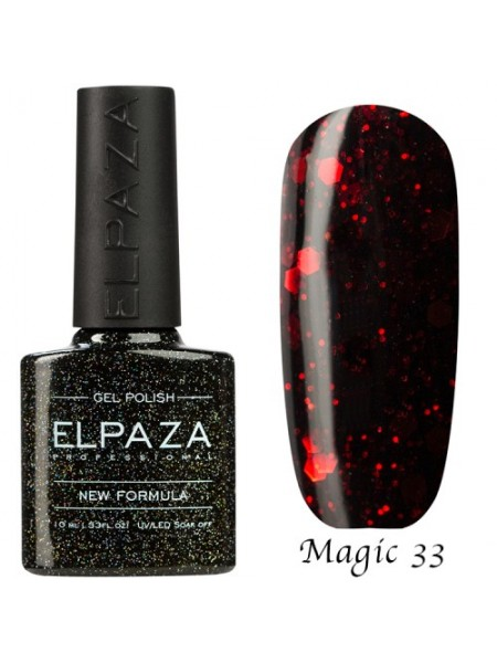 Гель лак Elpaza Magic Glitter №33, вишневый десерт