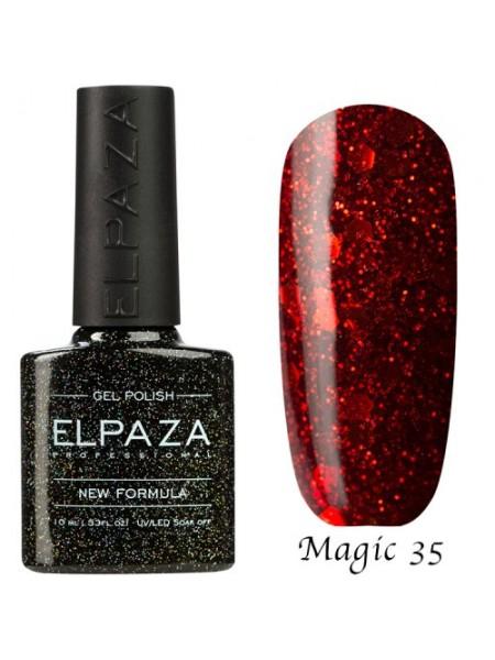 Гель лак Elpaza Magic Glitter №35, страсть