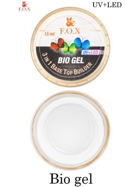 F.O.X Bio gel (3 in 1 Base/Top/Builder) 15мл.