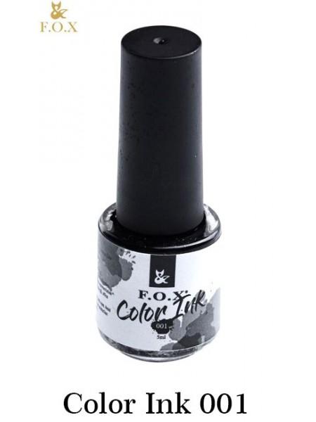 Акварельные чернила FOX Color Ink №01 (цвет - черный)