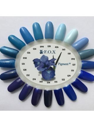 Гель лак F.O.X Pigment 6 мл № 030 синий с перламутром
