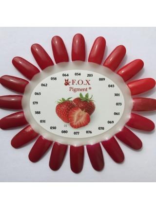 Гель лак F.O.X Pigment 6 мл № 031 красный с блесткой