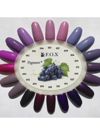 Гель лак F.O.X Pigment 6 мл № 017 розово-лиловый