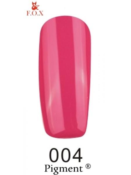 Гель лак F.O.X Pigment 6 мл № 004 темно-розовый