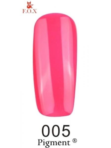 Гель лак F.O.X Pigment 6 мл № 005 розовый неоновый