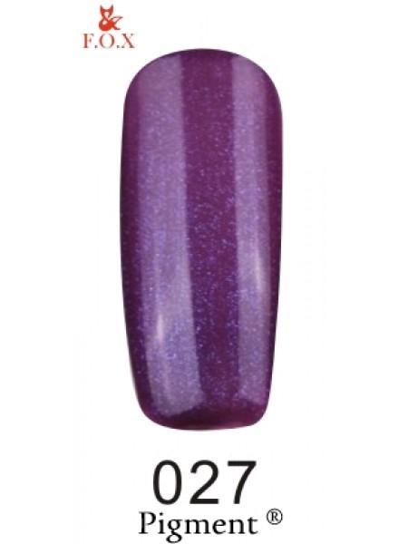 Гель лак F.O.X Pigment 6 мл № 027 фиолетовый с перламутром