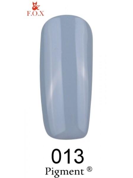 Гель лак F.O.X Pigment 6 мл № 013 серо-голубой