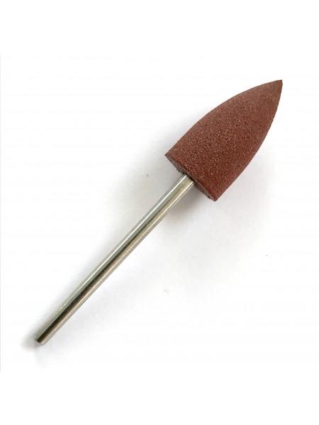 Полировщик силиконовый 10*19, коричневый