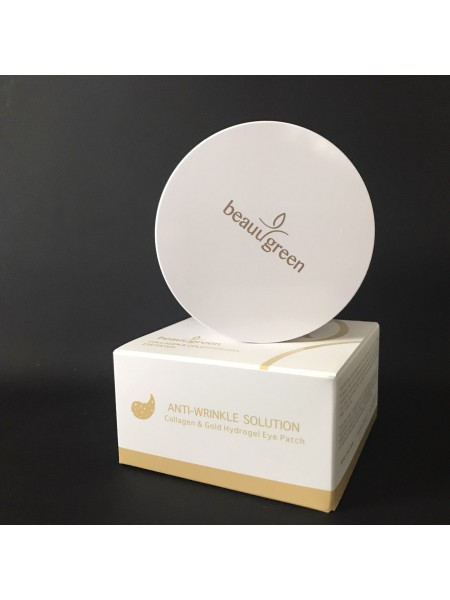 Beauugreen Гидрогелевые патчи для глаз с коллагеном и золотом Collagen & Gold, 60 штук
