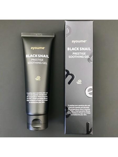 Ayoume крем-гель для лица с улиточным муцином 90% black snail prestige cream