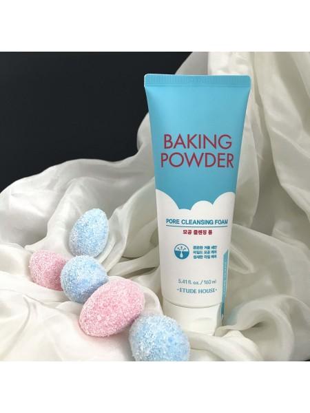 Пенка для умывания Etude House Baking Powder Pore Cleansing Foam для очищения пор, 160 мл.