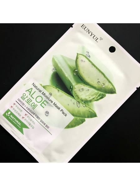 Маска для лица Eunyul Natural Moisture Mask Pack Aloe с алоэ вера