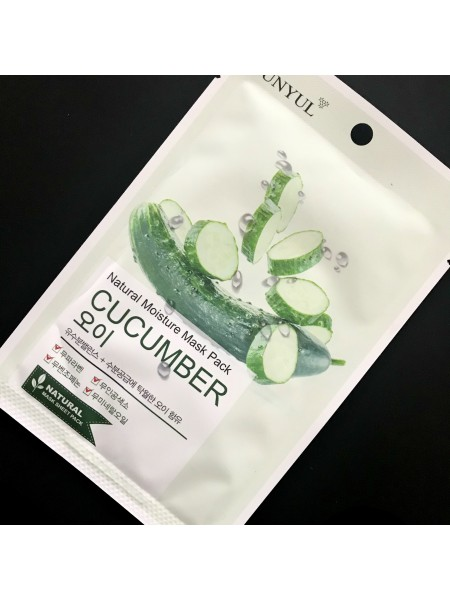 Маска для лица Eunyul Natural Moisture Mask Pack Cucumber с огурцом