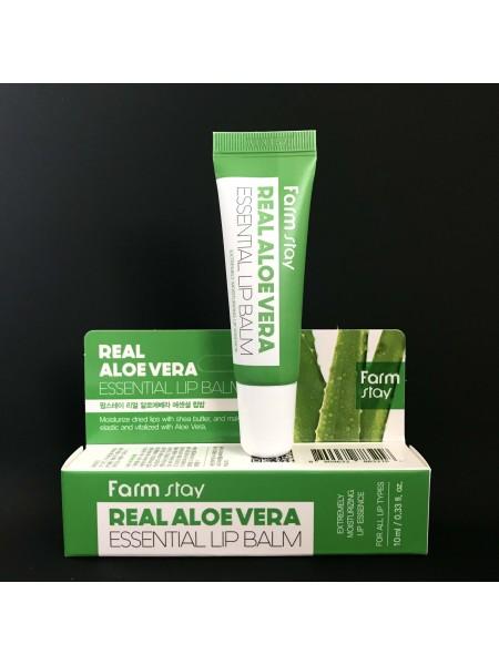 Farmstay бальзам для губ Aloe Vera Essential Lip Balm, 10 мл.