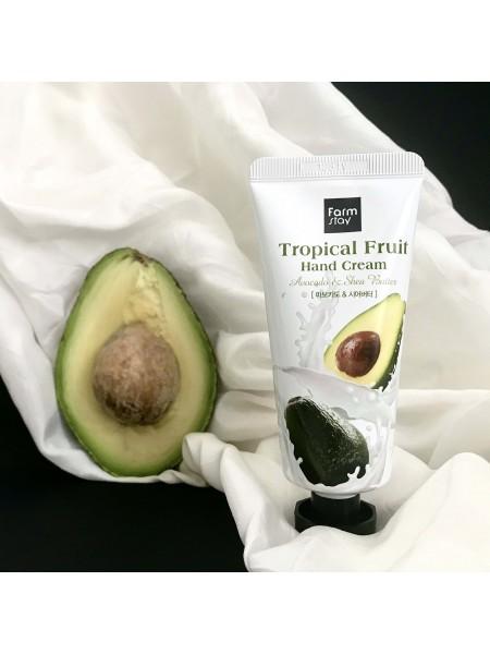 FarmStay крем для рук с авокадо FarmStay Tropical Ftuit Hand Cream Avocado, 50 мл.
