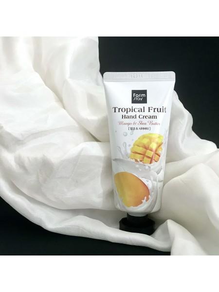 FarmStay крем для рук с авокадо Tropical Ftuit Hand Cream Mango, 50 мл.