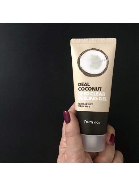 Farmstay пилинг-гель с авокадо Real Coconut Deep Clear Peeling Gel, 100 мл.