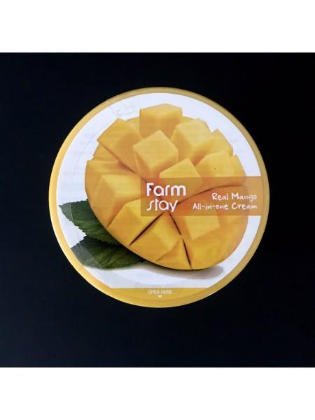 Farmstay Крем-баттер для лица и тела с манго Real Mango All-In-One Cream, 300 мл.