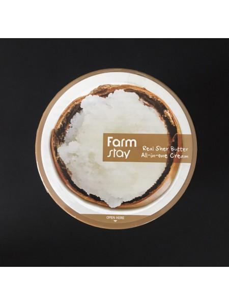 Farmstay Крем-баттер для лица и тела с маслом ши Real Shea Butter All-In-One Cream, 300 мл.