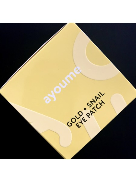 Ayoume гидрогелевые патчи с золотом и муцином улитки Ayoume Gold+Snail Eye Patch - 60 шт.