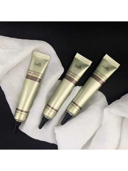 Lador мини-версия сыворотка для поврежденных волос ночная несмываемая Keratin Power Fill Up Sleeping Clinic Ampoule, 20 мл