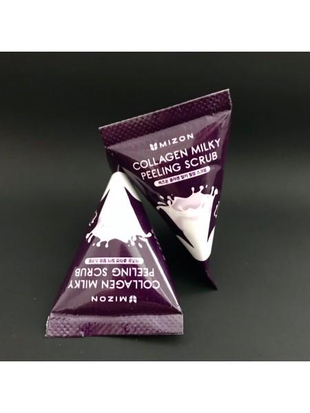 Мини-версия Mizon cкраб для лица с коллагеном и молочным белком, 7 мл.