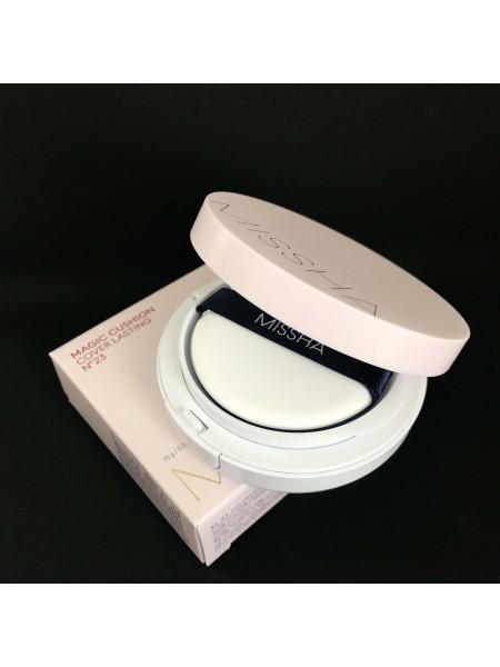 Missha кушон солнцезащитный Magic Cusion Cover Lasting SPF 50+/PA+++, 15 г. (оттенок 21/23)