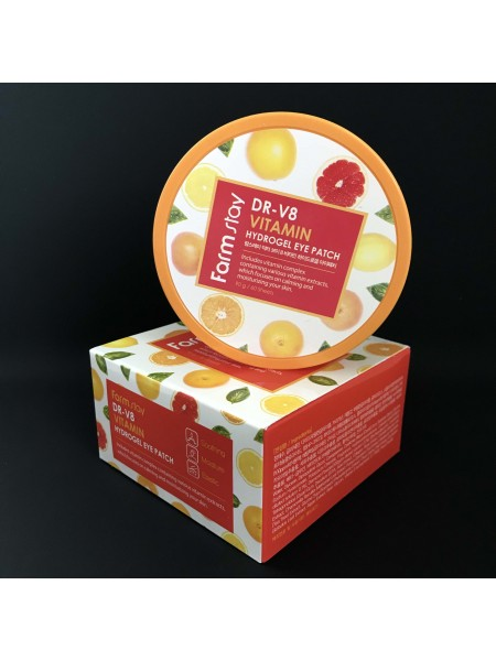 Farmstay гидрогелевые патчи для век с витаминами DR-V8 Vitamin Hydrogel Eye Patch, 60 шт.