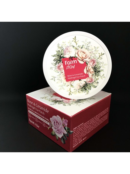 Farmstay гидрогелевые патчи для век с розой и керамидами Farmstay Rose & Ceramide Hydrogel Eye Patch, 60 шт.