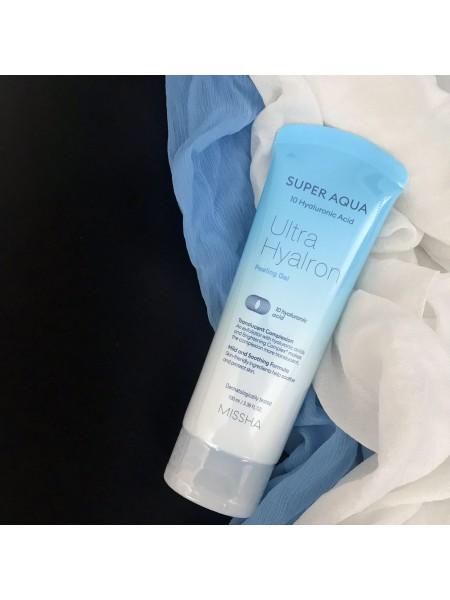 Пилинг для лица с гиалуроновой кислотой Missha Super Aqua Hyaluron Peeling Gel, 100 мл