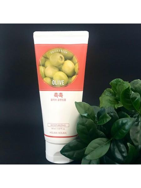 Пенка для умывания с экстрактом оливы очищающая Holika Holika Daily Fresh Olive Cleasnsing Foam, 150 мл
