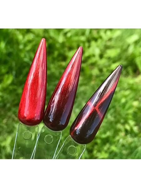 Saga магнитный гель лак Cat Shine Red (хрустальный блик), 8 мл.