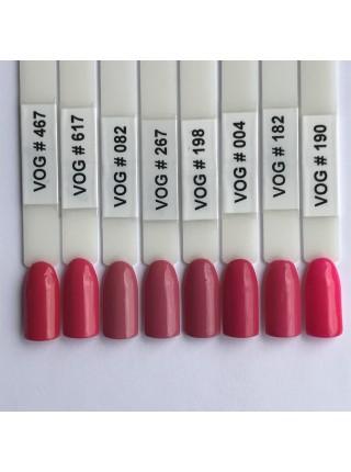 Гель лак VOG №004 насыщенный розовый, 12 мл.