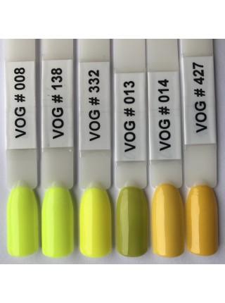 Гель лак VOG №014 ярко-желтый , 12 мл.