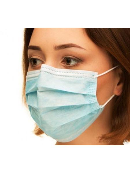 Маски медицинские MEDICOM, упаковка 50 штук, голубые